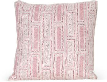 Milos Print Pillow with White Welt