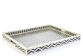 Chevron Bone Inlay Tray