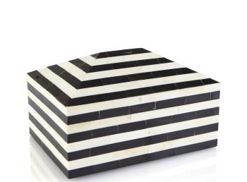 Pyramid Striped Bone and Horn Box