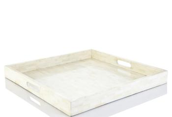 Square Bone Inlay Tray, Elaine